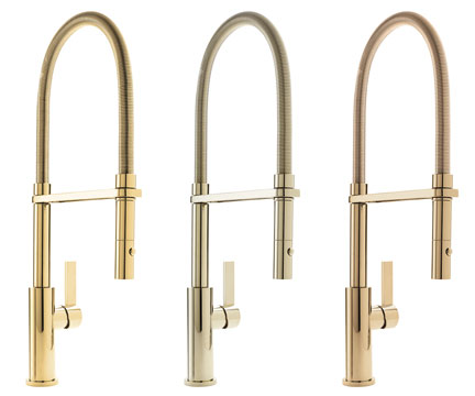 Corsano Culinary Series with matching outer spring in Polished Gold, Polished Brass and French Gold