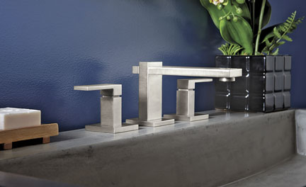 Morro Bay widespread lavatory faucet in Satin Nickel special finish