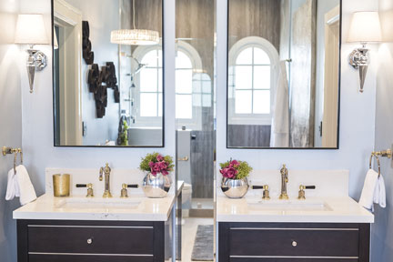 Topanga tri-finish faucet featured at 2016 Pasadena Showcase House :: Photography by Jason Melcher