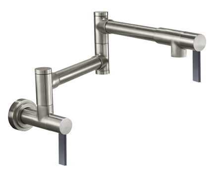 Modern style Pot Filler with 200 series handles; coordinates with Corsano Series