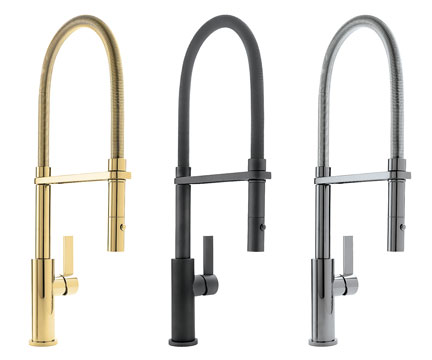 California Faucets Semi Professional Corsano Culinary Pull Out Kitchen Faucet