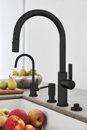 Corsano Series Pull Down Faucet Ensemble In Matte Black