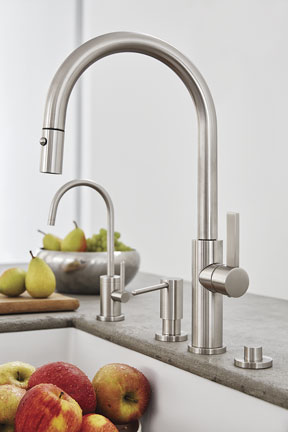 Corsano Pull-Down Kitchen Faucet in Satin Nickel finish