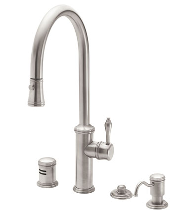 California Faucets Davoli Series Pull Down Kitchen Faucet In Oil