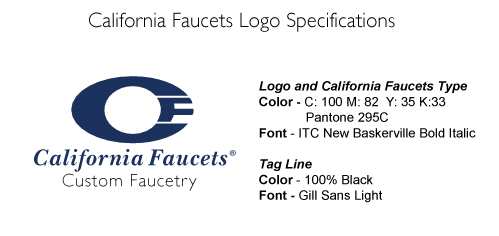 California Faucets Logo Specs