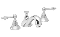 Traditional Spout Widespread Faucet Metal Lever Handles