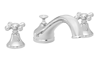 Traditional Spout Roman Tub Set Metal Cross Handles