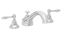 Traditional Spout Roman Tub Set Metal Lever Handles
