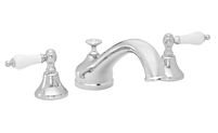Traditional Spout Roman Tub Set Porcelain Lever Handles
