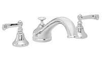 Traditional Spout Roman Tub Set Smooth Scroll Lever Handles