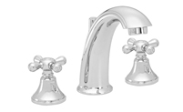 High Spout Widespread Faucet Metal Cross Handles