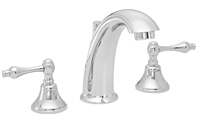 High Spout Widespread Faucet Metal Lever Handles