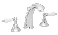 High Spout Widespread Faucet Porcelain Lever Handles