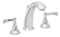 High Spout Widespread Faucet Smooth Scroll Lever Handles