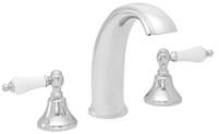 High Spout Roman Tub Set Porcelain Lever Handles