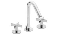 Contemporary Widespread Faucet Metal Cross Handles