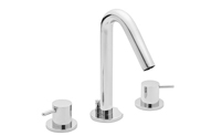 Contemporary Widespread Faucet Metal Cylinder Handles