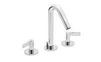 Contemporary Widespread Faucet Metal Lever Handles