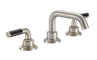 "Descanso® Bath 8"" Widespread Lavatory Faucet - Carbon Fiber with 2-5/8"" Diameter ZeroDrain®"