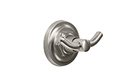 Descanso® Bath Double Robe Hook - Knurl