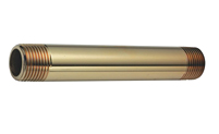 "3/8"" IPS X 4"" Brass Nipple"