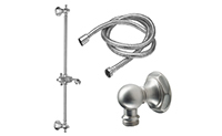 Venice Slide Bar Handshower Kit - Cross Handle with Hex Base