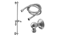 Coronado Slide Bar Handshower Kit - Lever Handle with Line Base