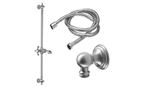 Humboldt Slide Bar Handshower Kit - Cross Handle with Line Base