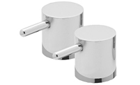 Metal Cylinder Handle Pair