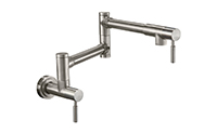 Corsano Pot Filler - Dual Handle Wall Mount - Contemporary