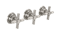 Descanso® Bath 3 Handle Tub And Shower Trim Only - Knurl
