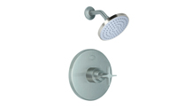 Contemporary Pressure Balance Shower Trim Only Metal Cross Handle