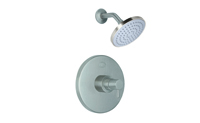 Contemporary Pressure Balance Shower Trim Only Metal Cylinder Handle