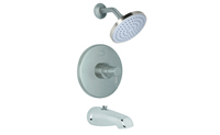Contemporary Pressure Balance Tub and Shower Trim Only Metal Cylinder Handle