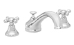 Traditional Spout Roman Tub Set Metal Cross Handles (2008-CR) - Image 1