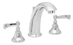 High Spout Widespread Faucet Smooth Scroll Lever Handles (2102-SM) - Image 1
