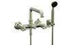 Wall Mount Tub Filler Low Spout - Wheel Handles (8508W-ETW.18) - Image 1