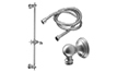 Slide Bar Handshower Kit - Cross Handle with Line Base (9129-34) - Image 1