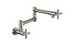 Pot Filler - Dual Handle Wall Mount - Contemporary (K51-201-XX) - Image 1