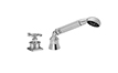 Industrial Handshower & Diverter Trim Only for Roman Tub - Wheel Handle (TO-85W.15.18) - Image 1