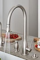 Kitchen Faucets.Luxury Kitchen Faucets With Matching Accessories